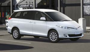 IMAGE - 2016 Toyota Previa  in Glacier White - urban setting copy