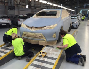 Signature Class women mask cars for repainting