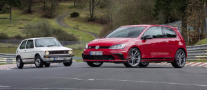 The Golf GTi Clubsport S and the original Golf GTi