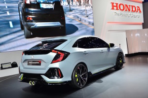 The prototype Civic at the Geneva motor show earlier this year