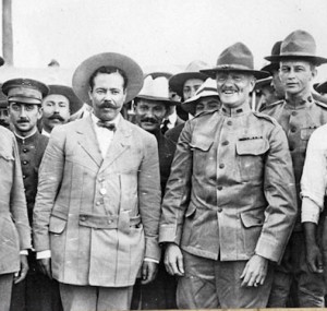 Pancho Villa and General Pershing in friendlier times