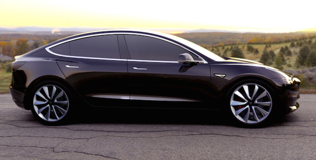 Tesla Model 3, mid-sized sedan due to go into production next year