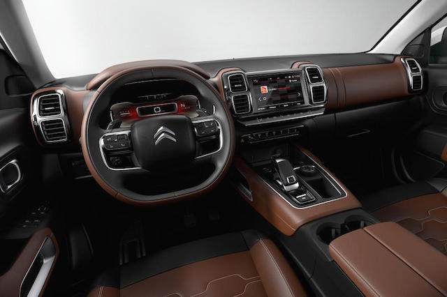 Wheelhouse of the C5 Aircross concept