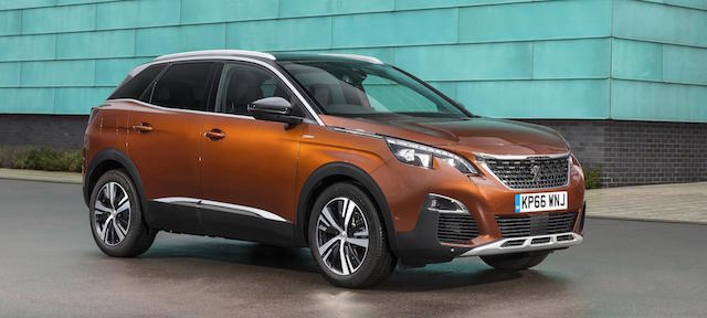 At top and above, the upcoming Peugeot 3008
