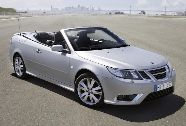 Saab 9-3 soft-top of a few years ago