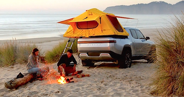 rivian-r1t-electric-truck-tent-camping