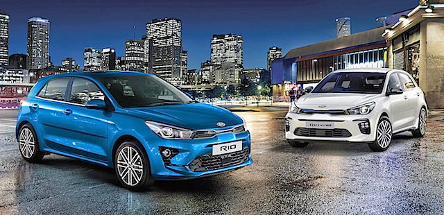 2021 Kia Rio Limited (left ) and GT Line (right) copy